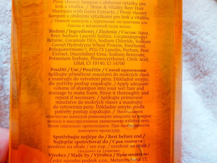 pivní šampón recenze, tip na šampón