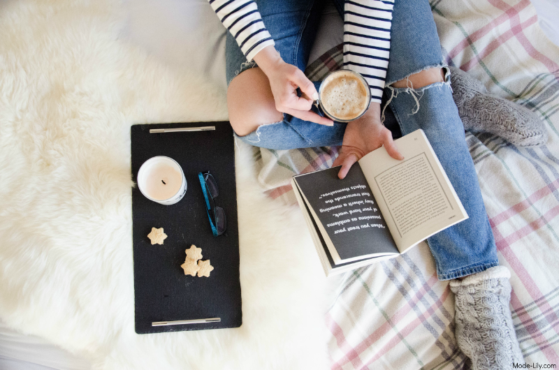 Coffee: Because Adulting is Hard | Flat Lay Photography, Coffee in Bed