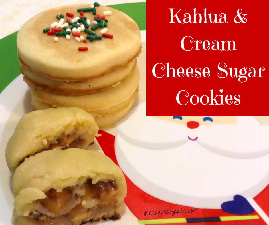 Kahlua and Cream Cheese Sugar Cookie Recipe plus Hidden Candy Cookie