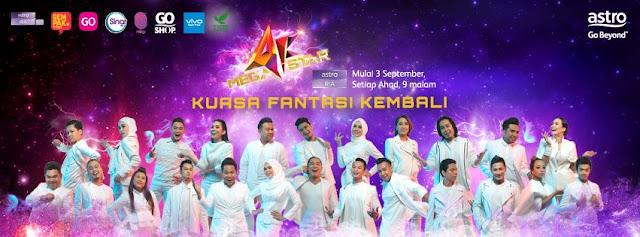 Top 12, AFMEGASTAR, Konsert AF Megastar Homecoming 1 & 2, AF Megastar, Top 12 AF Megastar, Syamel (AF2015), Indah (AF2013), Bob (AF2), Idayu (AF3), Marsha (AF3), Amir Jahari (AF9), Adira (AF8), Shahir (AF8), Amir (AF2016), Sufi (AF2015), Ewal (AF2014),  Azhar (AF2013),