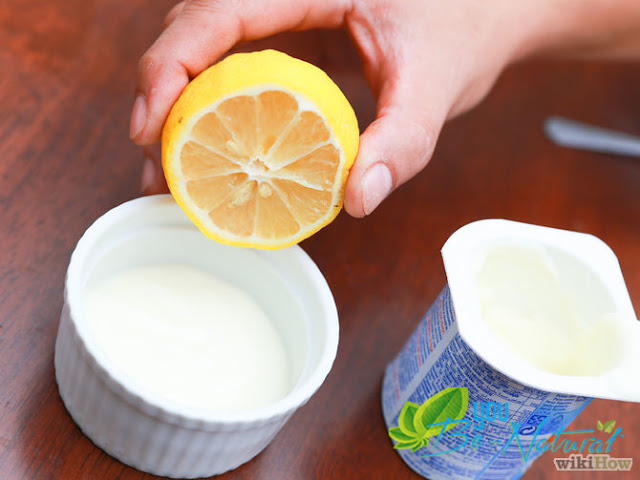 Cách trị mụn bằng chanh và sữa chua không đường