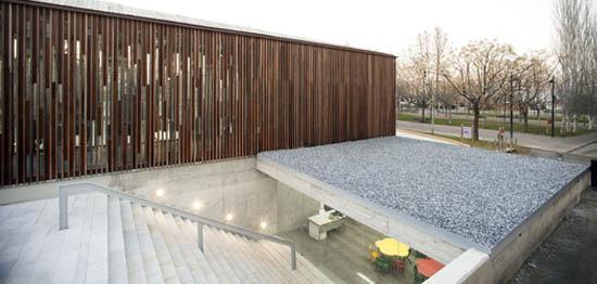 Biblioteca en og jares de m57 arquitectos arquitectura y - Diseno interiores granada ...