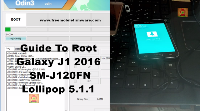 Guide To Root Galaxy j1 2016 SM-J120FN Lollipop 5.1.1