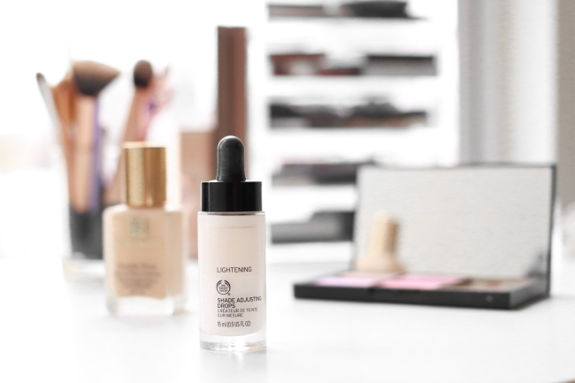 body shop, foundation drops, shade, lightening, white,foundation, review, shade, makeup, colour, budget