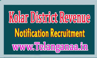 Kolar District Revenue Department Recruitment Notification 2016