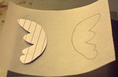 template for making butterfly wings for chocolate butterfly cupcakes