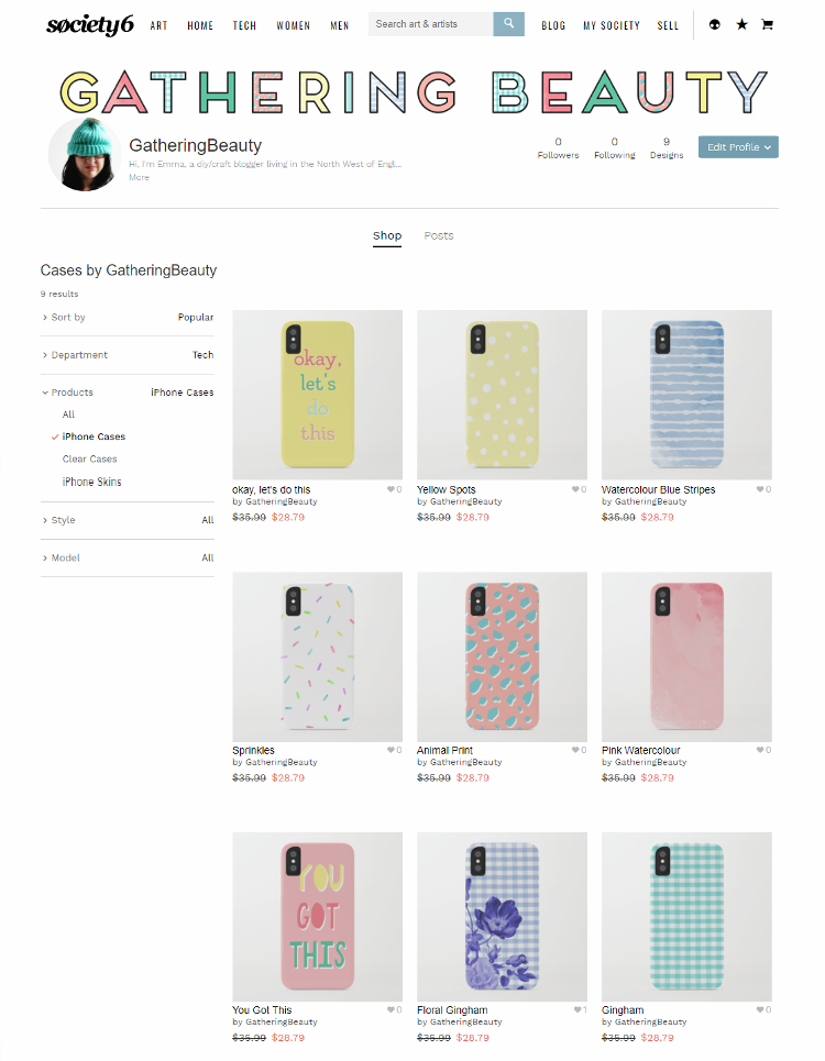 Pretty Pastel Phone Cases on Society6 by Gathering Beauty
