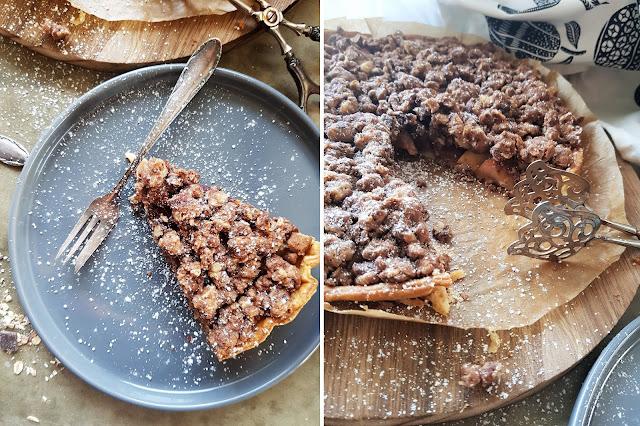 Apfel-Zwetschgenkuchen mit Schoko Müsli Streusel