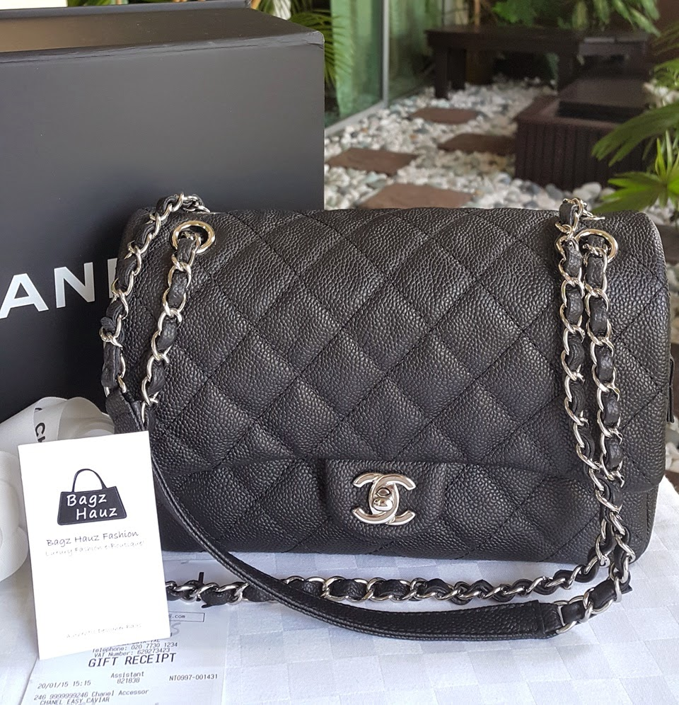 03bbe423500d CHANEL Easy Flap Medium in Black Caviar SHW ~ For Sharin ~ ♥♥1st time  customer♥♥