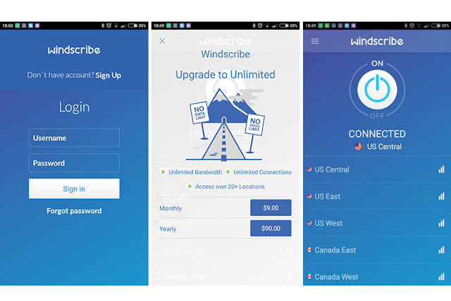 Windscribe plugin provides protection against identity theft