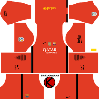 Barcelona kits 2016/2017 - Dream League Soccer 2017 & FTS15