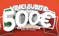 Logo ''Vinci subito con Meliconi'' 13 buoni spesa da 500€