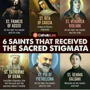The live story of the holy stigmata of this 6 saints