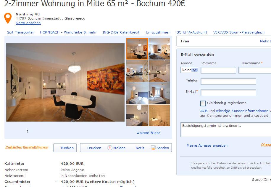 Wohnung Bochum Innenstadt