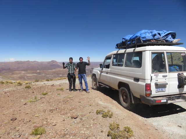 der knapp über 5000m Meter hohe Pass