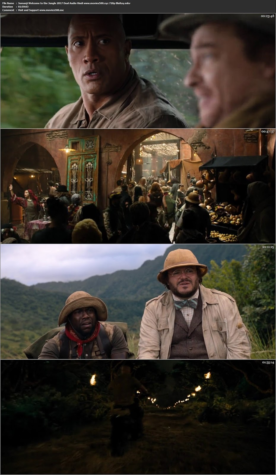Jumanji Welcome to the Jungle 2017 Dual Audio Hindi Bluray 720p at movies500.info