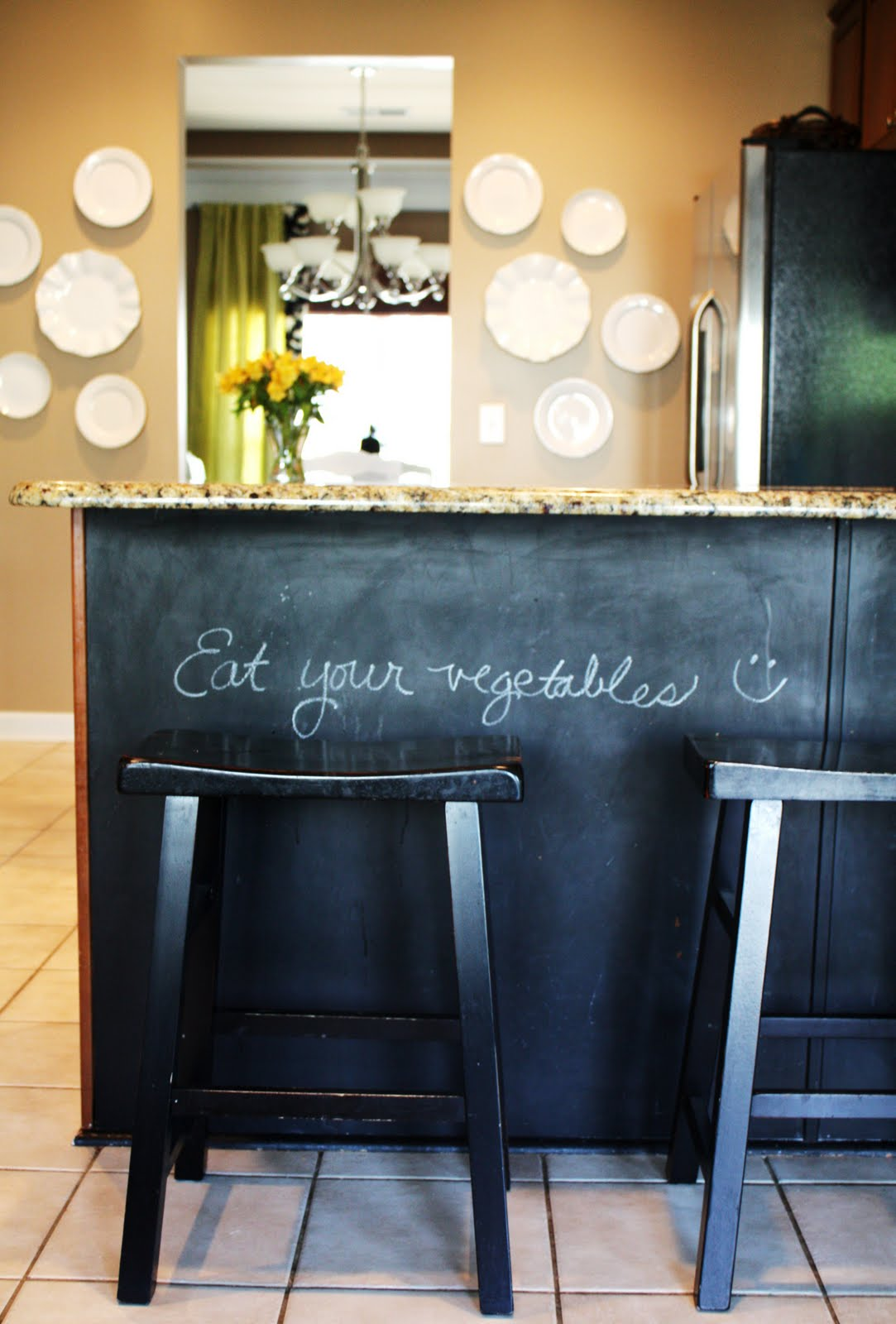 Our Kitchen Chalkboard Paint Under The Counter Emily A