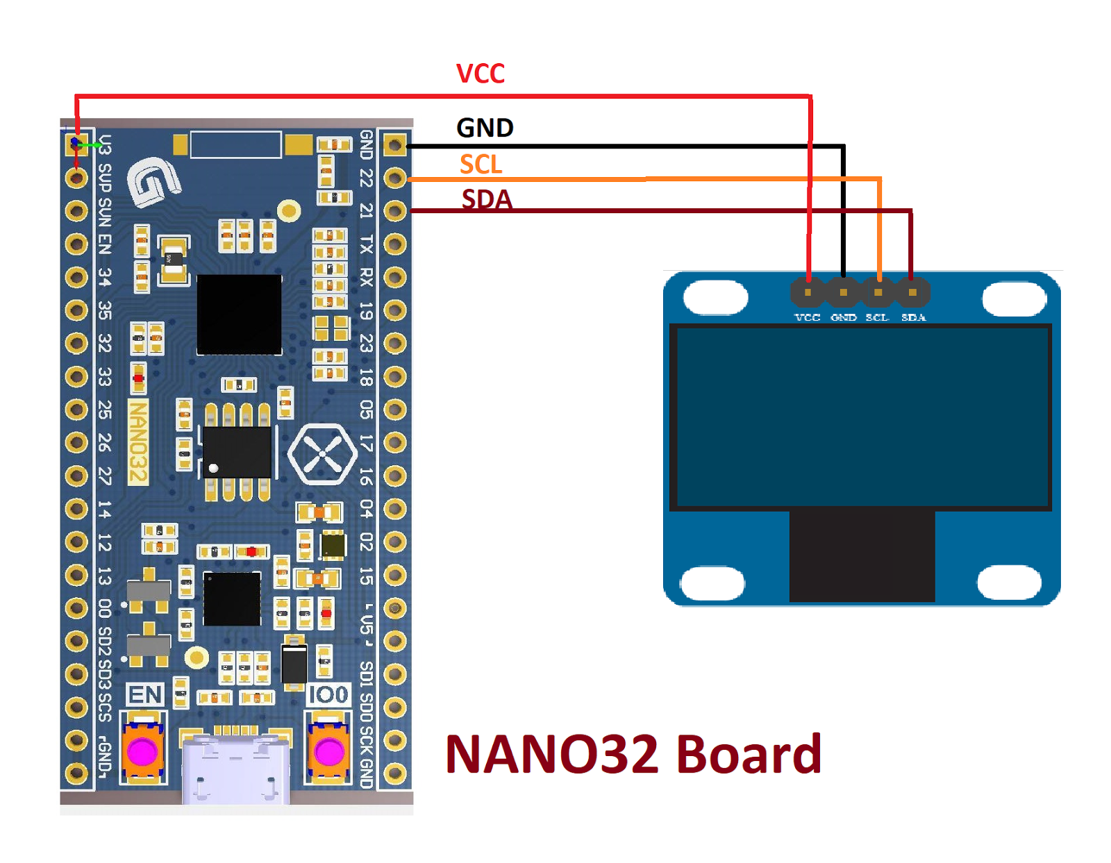 ESP32 connect OLED display ( SSD1306 )