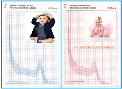 croissance bébé,courbe croissance