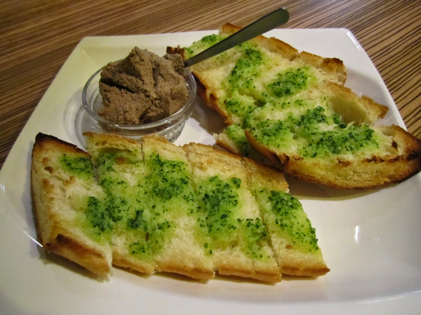 Chicken Liver Paste with Garlic Toast Sette Colore Towada Italian Bar チキンレバーペーストガーリックトースト添え セッテコローレ イタリアンバー 十和田市