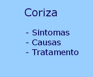 Coriza sintomas causas diagnóstico tratamento