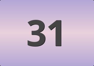 เลขท้ายสองตัวที่ออกบ่อย, เลขท้ายสองตัวที่ออกบ่อย 31