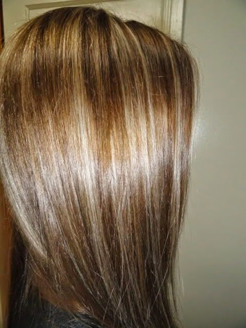 Brunette with blonde highlights