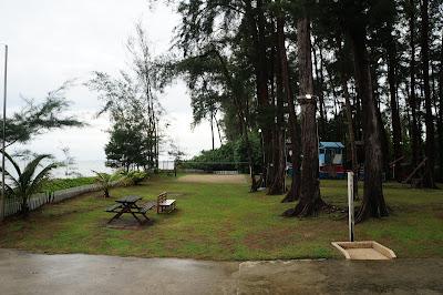 Pantai di Miri dan pemandangannya