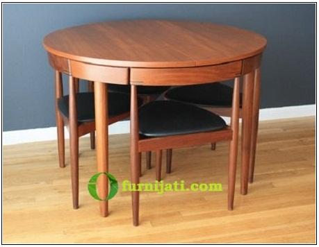 Model meja makan jati minimalis