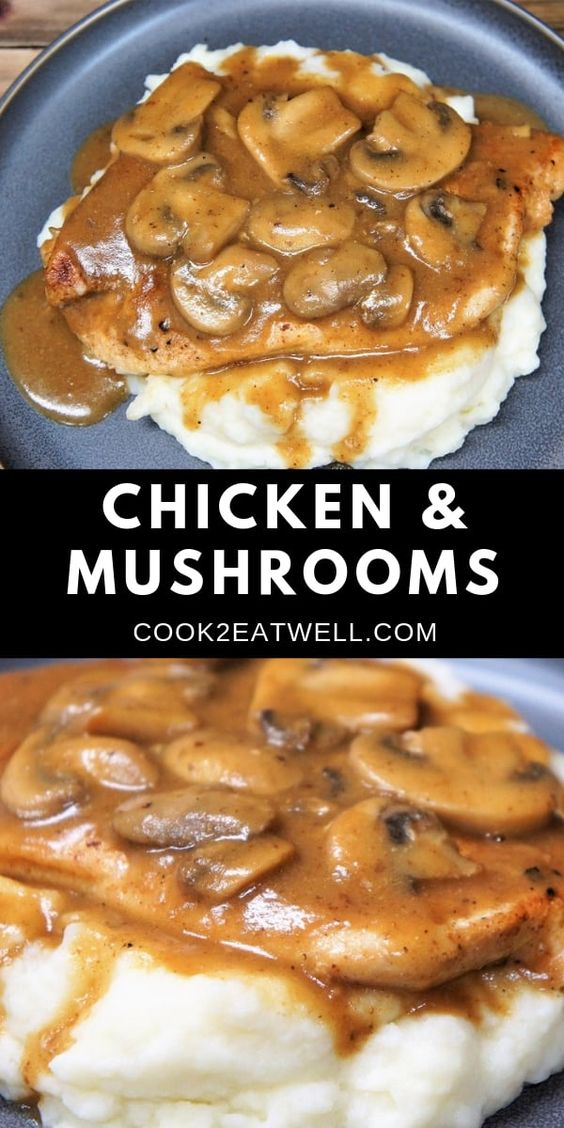 If you're due for a wonderful home-cooked meal, this chicken and mushrooms dinner is it. In this recipe, thin chicken breasts are served with a delicious mushroom gravy.