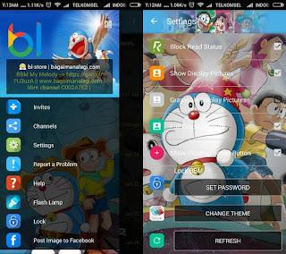 BBM Whatsapp Mod Doraemon v 2.12.0.9 Terbaru