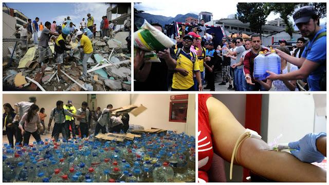 donaciones voluntarios terremoto ecuador