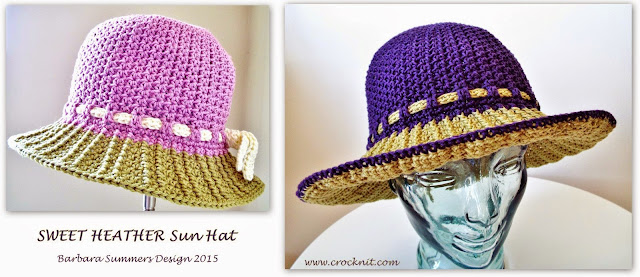 crochet sun hats patterns cotton short long brim