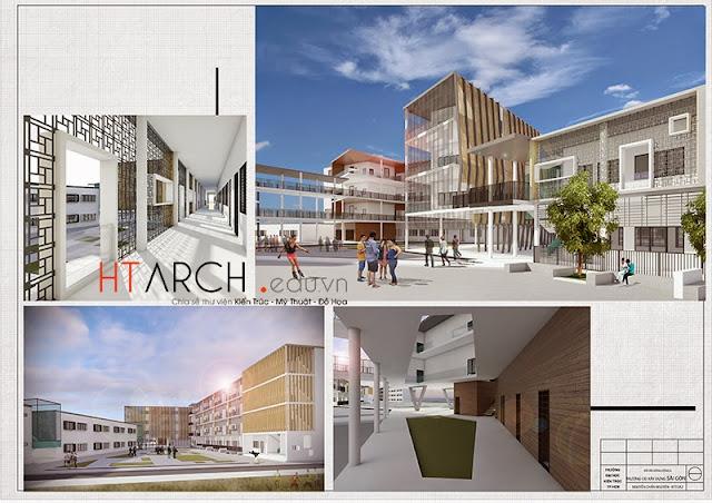 đồ án kiến trúc Đồ án cao đẳng xây dựng tphcm