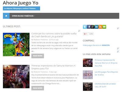 Ahora Juego Yo, blog de videojuegos