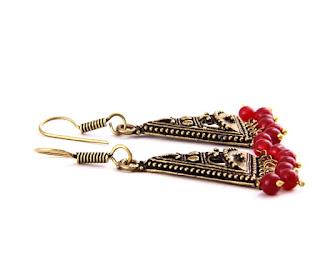 Maroon-beads-cherry-kiss-earrings-buy-online-india-Earring-Shopping Store India-History-AG_ER000883_MRN