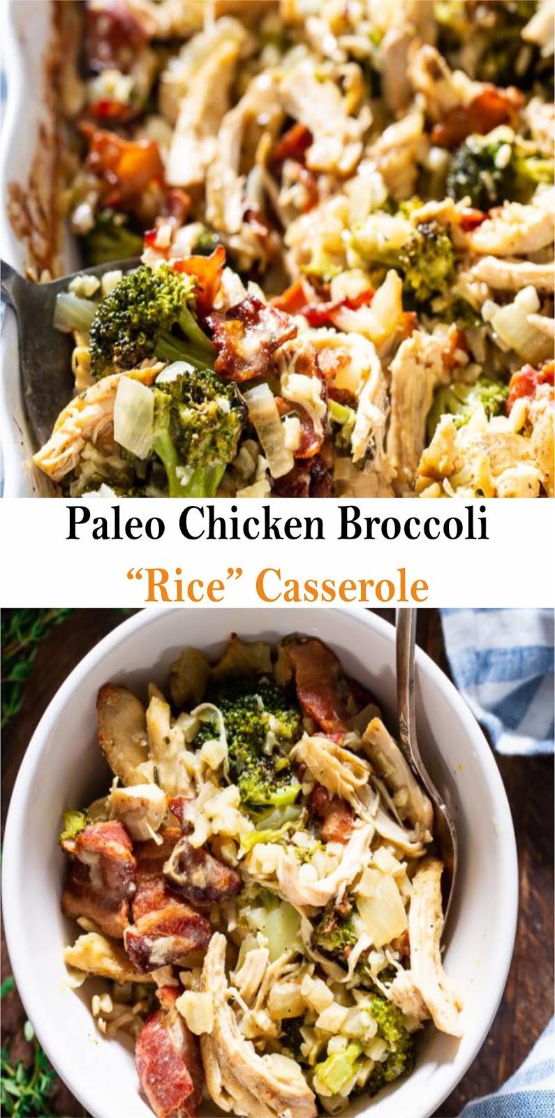 Paleo Chicken Broccoli Rice Casserole - Best Recipes -9966