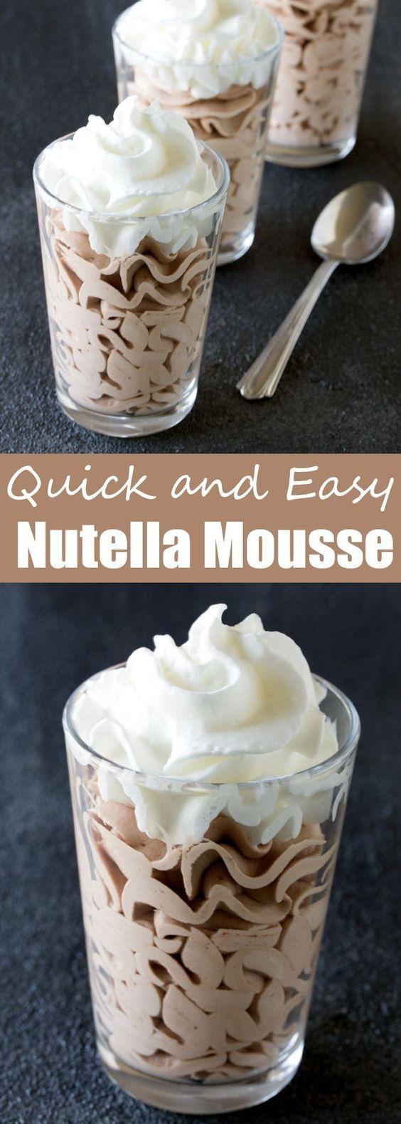 Quick and Easy Nutella Mousse #easyrecipe #dessert