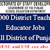 DTE Vacancy Announcement All 36 Districts of Punjab
