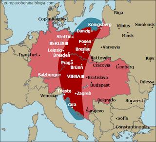 mapa banana roja