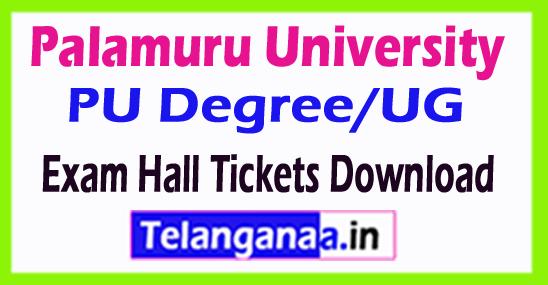 Palamuru University PU Degree/UG Exam Hall Tickets Download