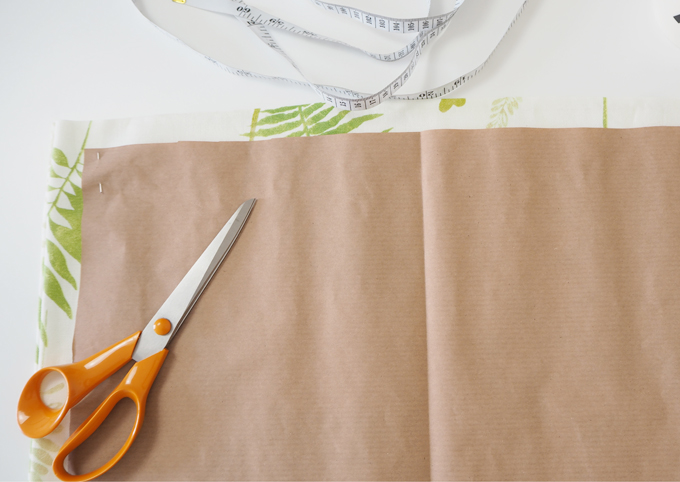 DIY interiors How to make a botanical cushion cutting out