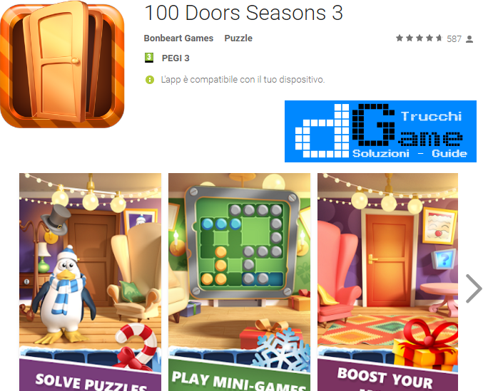 Soluzioni 100 Doors Seasons 3  livello 31 32 33 34 35 36 37 38 39 40 | Trucchi e  Walkthrough level