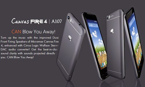 MicromaxCanvas Fire 4 A107:4.5 inch Android Lollipop Smartphone Specs,Price