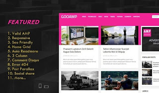 best goo amp blogger template