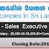 Vacancies In Sri Lanka Post Of -  Sales Executive