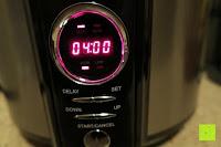 4 Stunden garen: Andrew James 3,5L Sizzle to Simmer 2 in 1 Digitaler Schongarer mit Entnehmbarer Aluminiumbratpfanne – Zum Braten, scharf Anbraten, Sautieren und Dämpfen – 2 Jahre Garantie