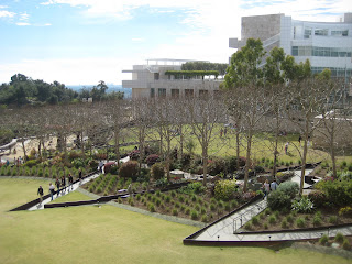 Zigzagging path down to the Central Garden