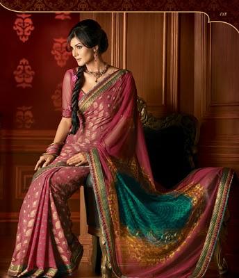 Traditional way of saree draping