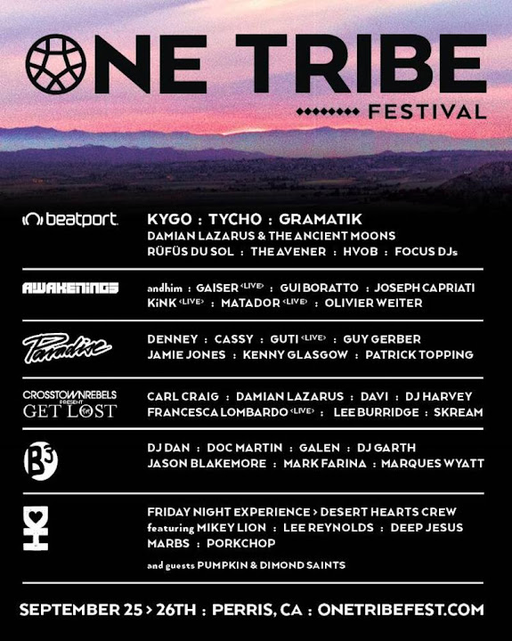One Tribe Fest Lineup Flyer